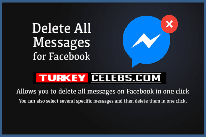 How to delete all messages on facebook in one click