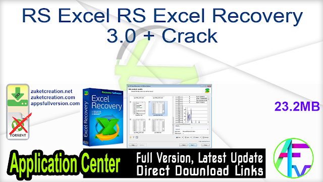 RS Excel RS Excel Recovery 3.0 + Crack