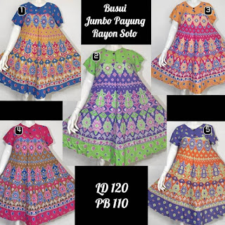 daster payung rayon solo