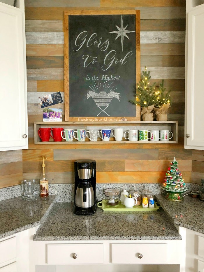 Our Less is More Christmas Coffee Bar