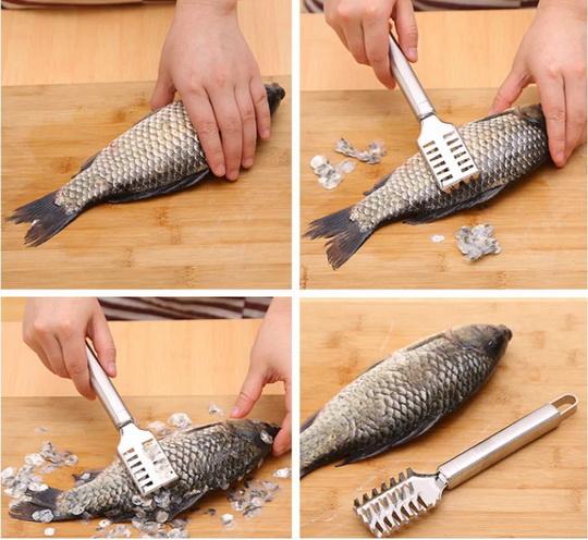 Удобно пользоваться при обработке специальными рыбочистками