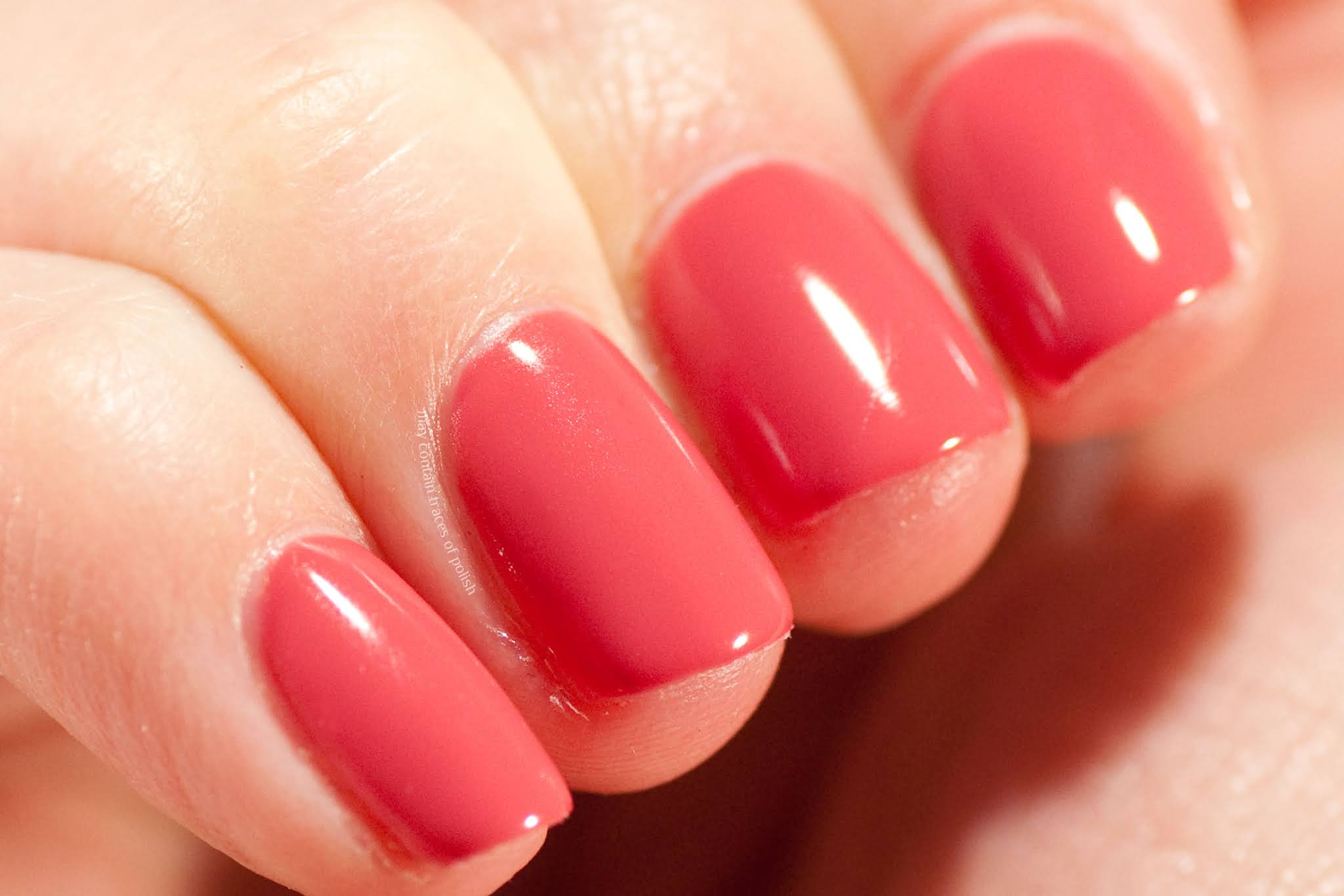 Pink Gellac swatches - 142 Coral Red