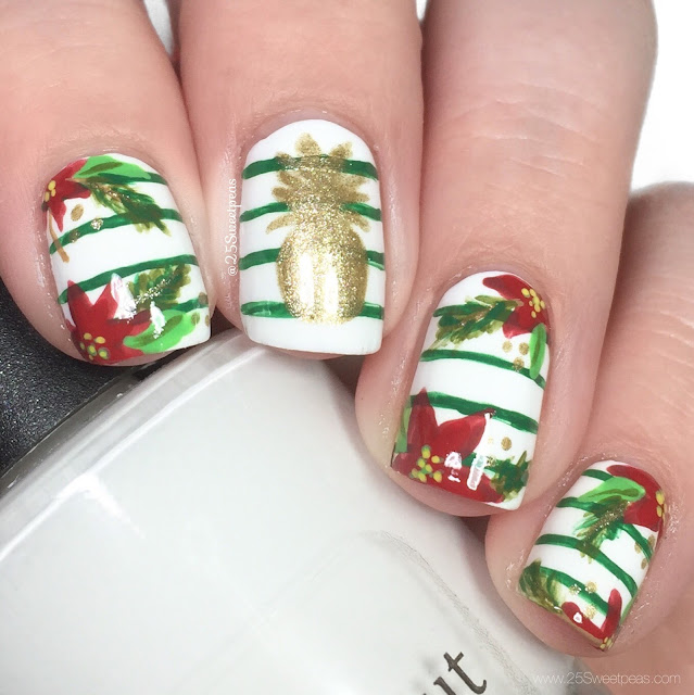 Beachy Christmas Nail Art 25 Sweetpeas