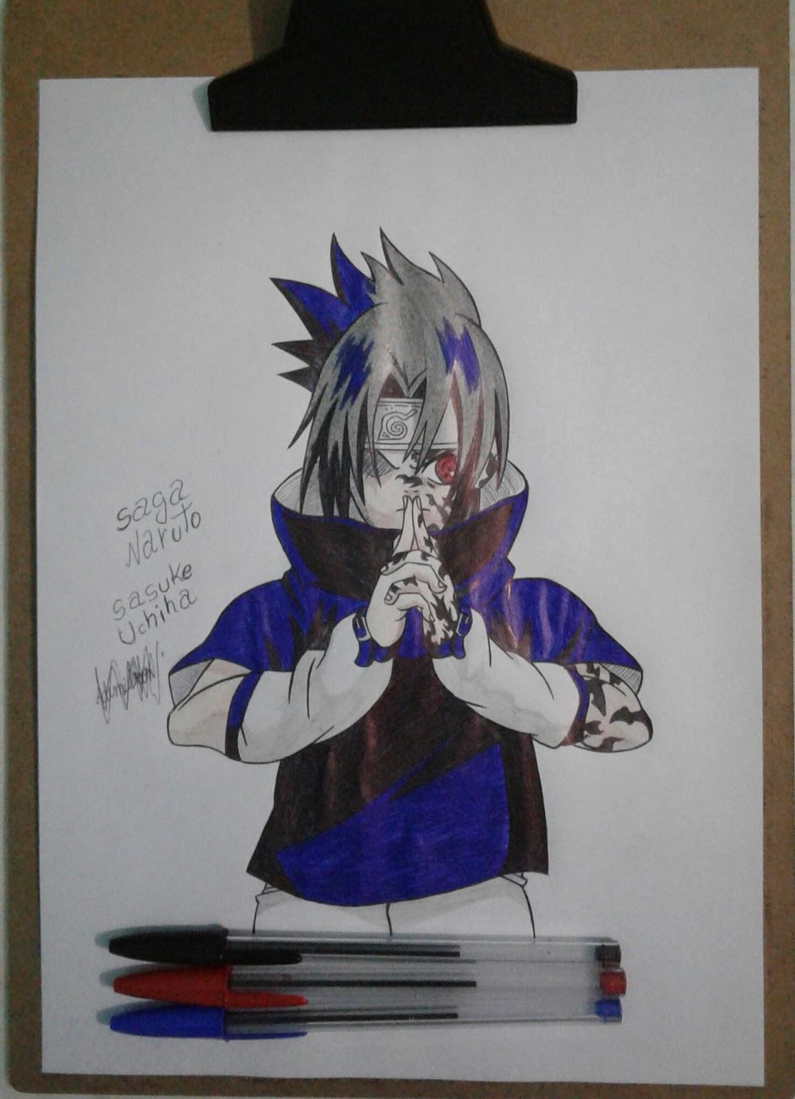 Arte Kawaii Brasil Desenho Do Sasuke Uchiha