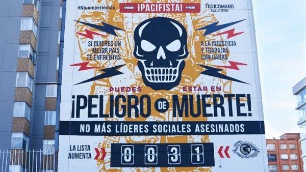 Marcha mundial por líderes sociales asesinados de Colombia