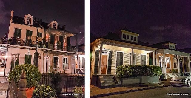 Arquitetura creole no Faubourg Marigny, em Nova Orleans