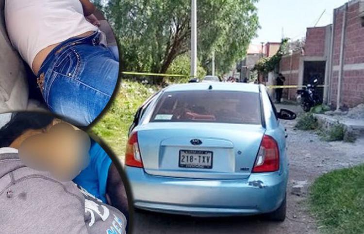 FOTOS, Sicarios ejecutan con el tiro de gracia a dos mujeres y un sujetos dentro de un auto en el Estado de México