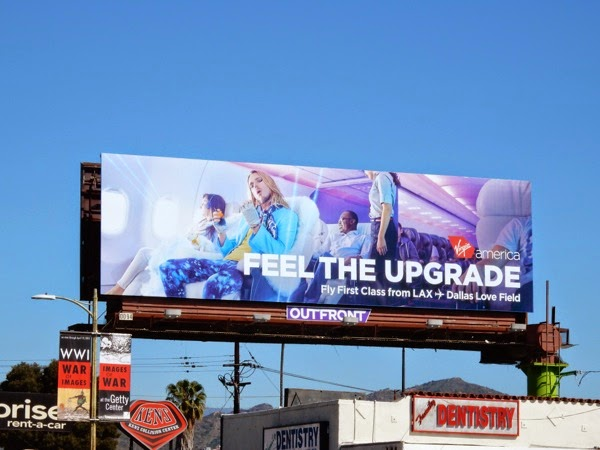 Virgin America Feel the upgrade billboard