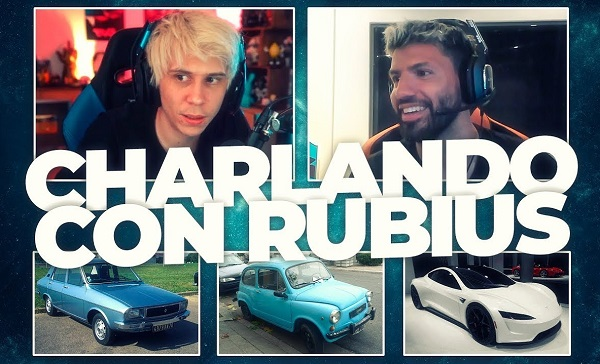Los primeros autos del Kun Aguero con Rubius