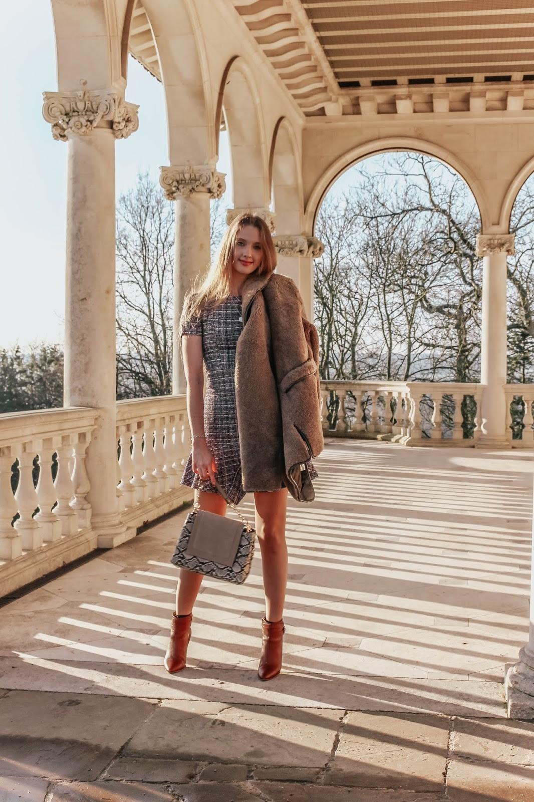 angeleye clothing tweed mini dress blogger
