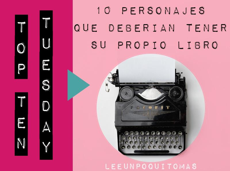 TTT: 10 personajes que deberían tener su propio libro