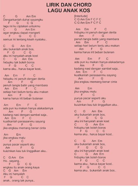 anak kos lirik