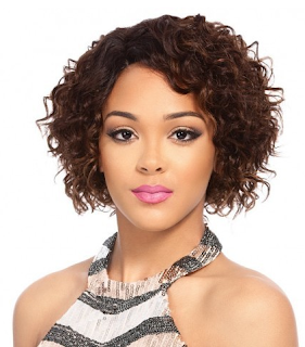 curly bob wig from #Divatress #beauty #ad