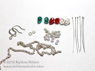 Jewelry components for making Bud light earrings