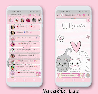 Cat Cutte Theme For YOWhatsApp & RA WhatsApp By Natalia