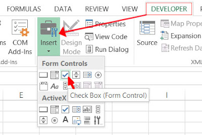 excel checkbox