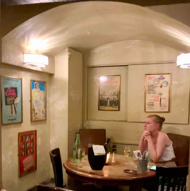 inside and downstairs at Le Garrick French  restaurant