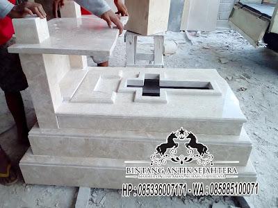 Kijing Makam Marmer Tulungagung, Makam Marmer, Makam Marmer Kristen Modern