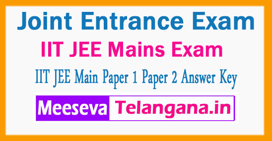 JEE Main Joint Entrance Exam Central Board of Secondary Education IIT JEE Main Answer Key 2018 Download