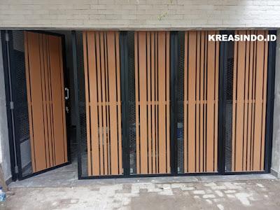Repeat Order ke 3 Vindo Design pemasangan Pintu Garasi dan Kusen Aluminium di Alam Sutera Tangerang