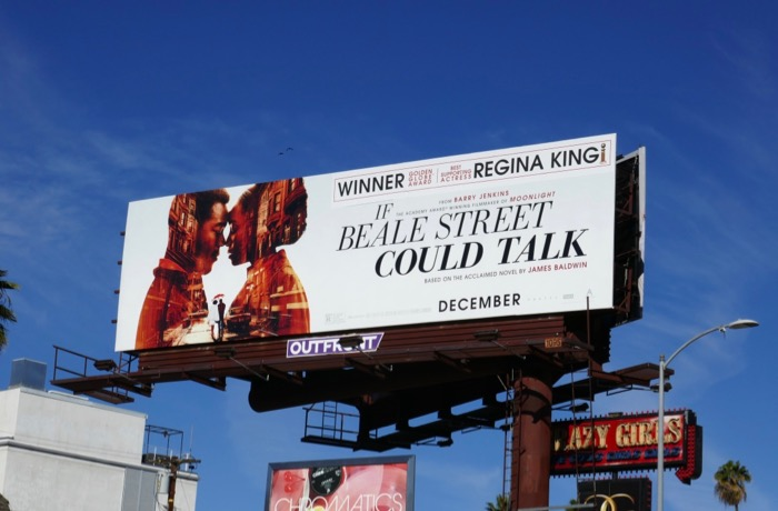 If Beale Street Could Talk movie billboard