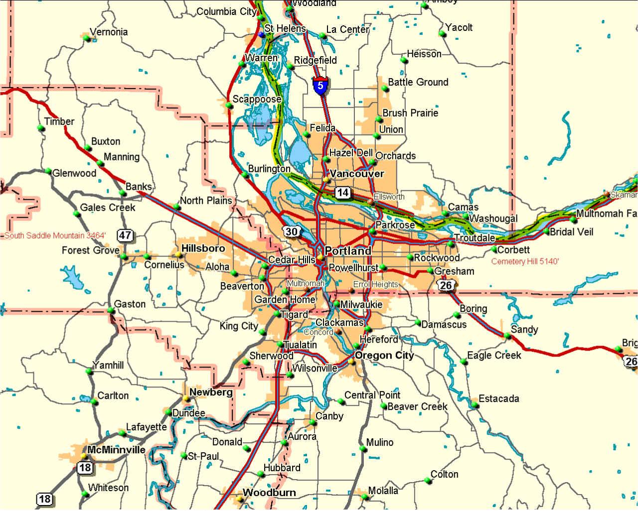 Portland Or Zip Code Map dallas metroplex map