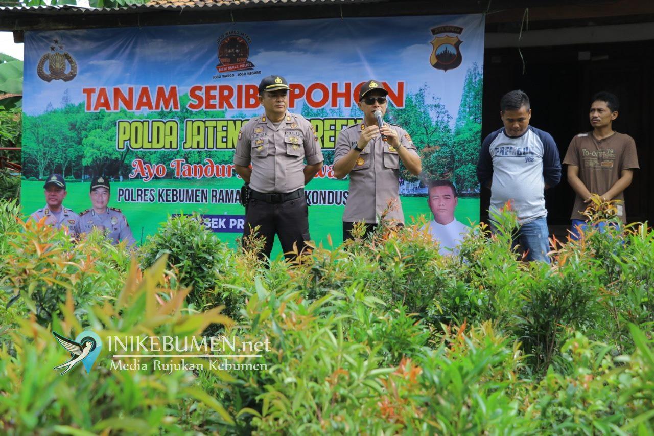 Selamatkan Lingkungan, Seribu Tanaman Pucuk Merah Ditanah di Sidogede Prembun