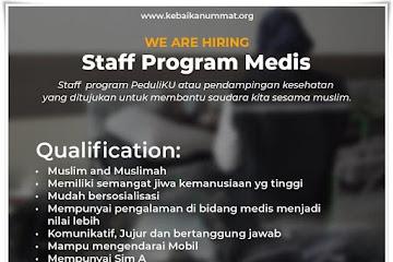 Lowongan Kerja Staff Program Medis Kebaikan Ummat