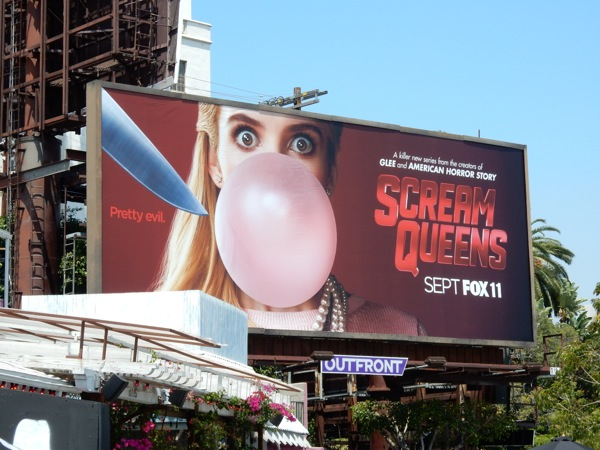 Scream Queens bubblegum billboard