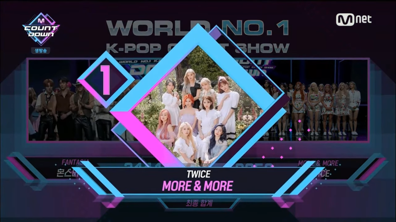 TWICE Takes Home The 2nd Win for 'MORE & MORE' on M!Countdown, Congratulations!
