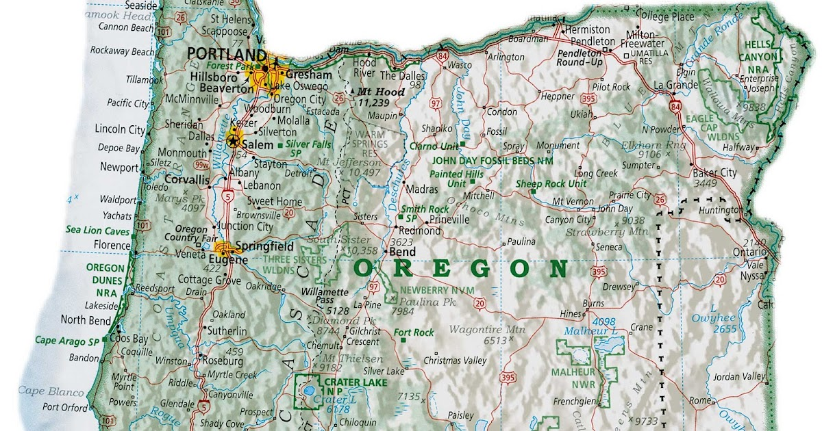 Online Maps Oregon Map With Cities