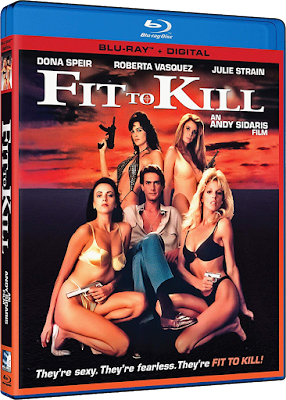 Cover art for Mill Creek's new Blu-ray of Andy Sidaris' FIT TO KILL!