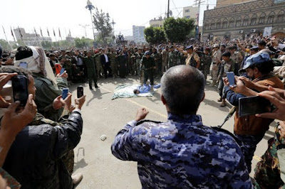 The execution took place in a public square in Sana, Yemen, and was televised.
