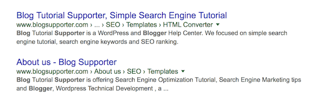 Show BreadCrumb in Google Search Result