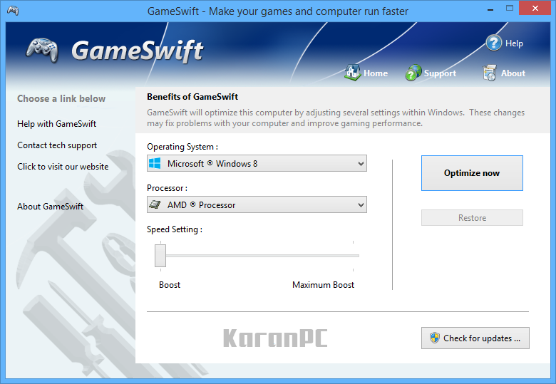 PGWARE GameSwift