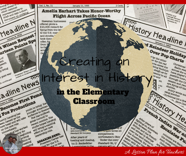 In today's technology-centered society, sparking an interest in anything that isn't the latest app or gadget is difficult. Further, with Social Studies programs being cut around the country and History departments consistently underfunded and understaffed, many of our children are growing up without an interest in History. Cultivating an interest in History at the elementary level can inspire young students to pursue further Social Studies education, delve deeper into the history that influenced their past and present, and encourage them to broaden this pursuit beyond the classroom and into their everyday lives. #elementaryhistory #elementaryclassroom #historyteacher