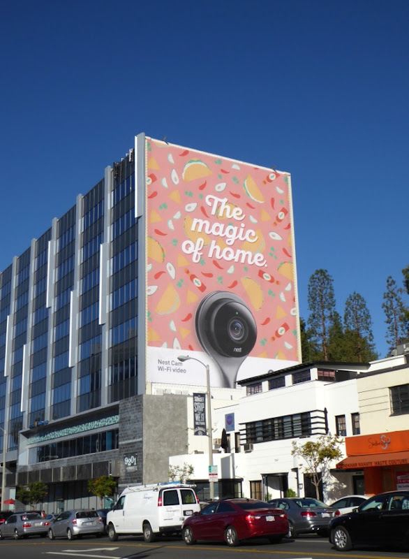 Nest Cam magic of home billboard