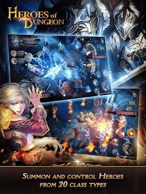 heroes of dungeon mod apk indir