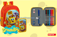Concorso Mayoral : vinci gratis 3 set di zaino e astuccio di SpongeBob