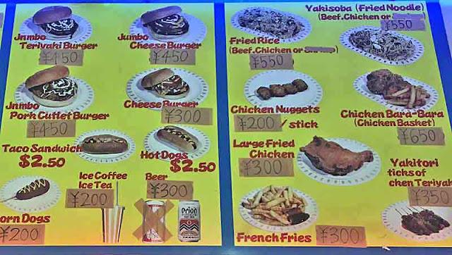 Burgers, Jumbo, menu, Gate-1, restaurant, Kin Town, Okinawa