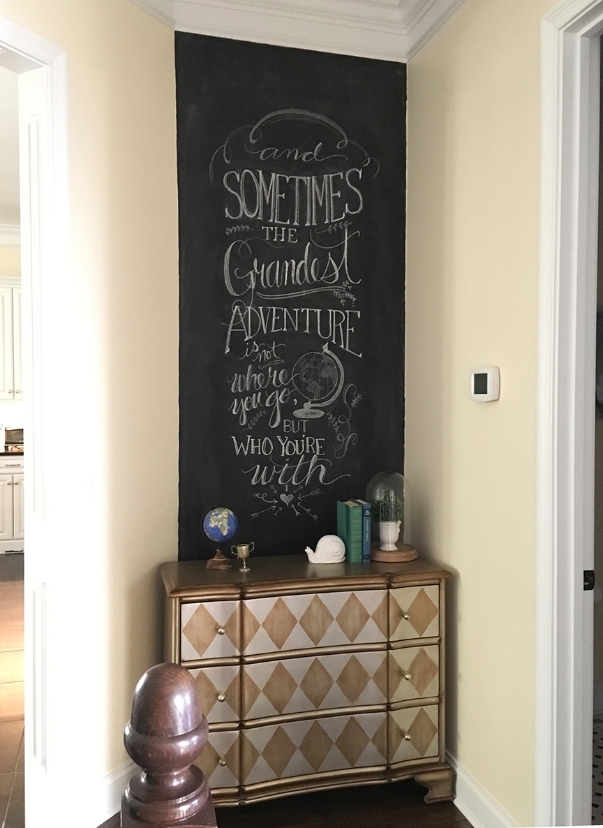 My New Chalkboard Wall And A Giveaway