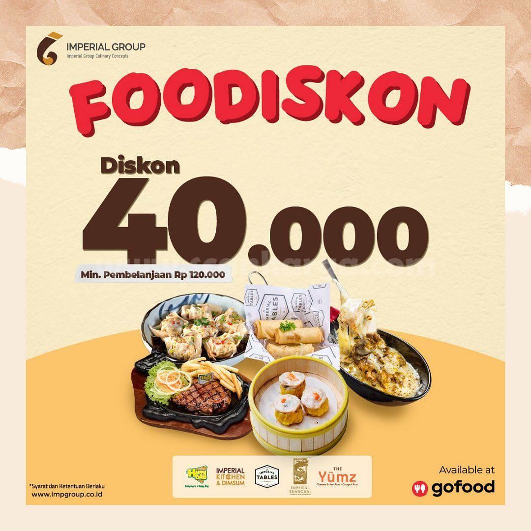 Promo IMPERIAL KITCHEN FOODISKON! hingga Rp 40.000 via GOFOOD