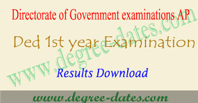 AP D.ed 1st year results 2017 manabadi @bseap.org