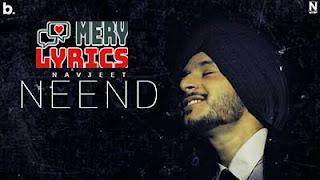 Neend Lyrics By Navjeet