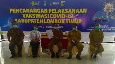 Pemkab Lotim Launching Program Vaksin, Setelah Dua Kali Suntik Dapat Kartu