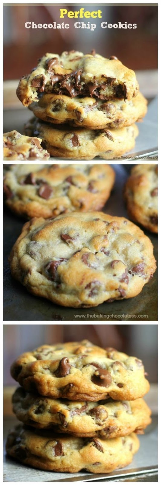 Perfect Chocolate Chip Cookies #perfectcookies #chocolate #chocolatechip #cookies #cookierecipes #easycookierecipes