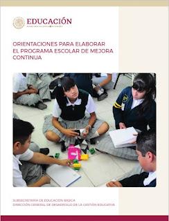 Orientaciones para elaborar el Programa Escolar de Mejora Continua
