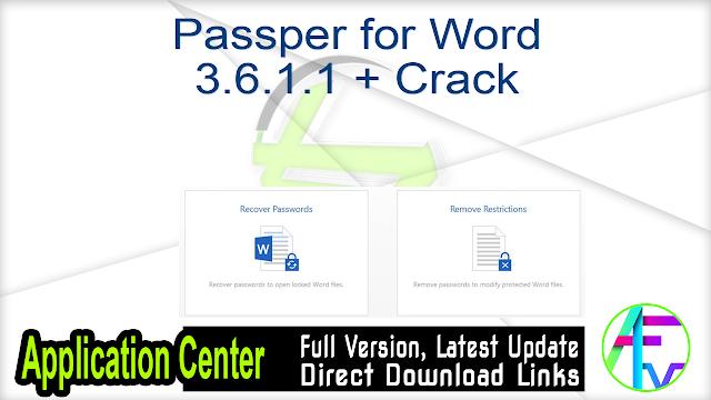 Passper for Word 3.6.1.1 + Crack