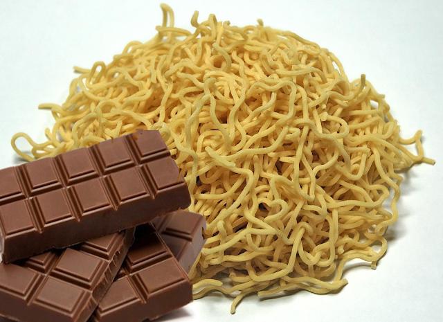 makanan berbahaya Mie Dengan Coklat