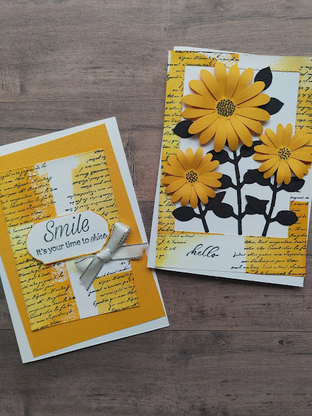 Mango Melody Orange Daisy Vintage Cards Stampin' Up